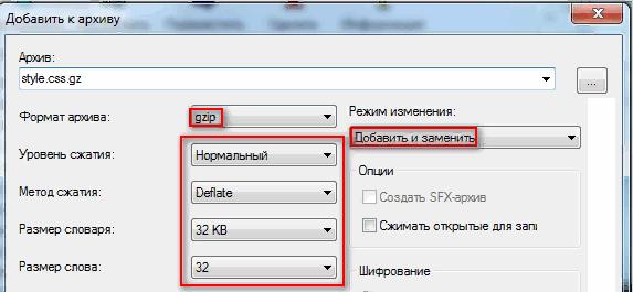 Использование Gzip-сжатия